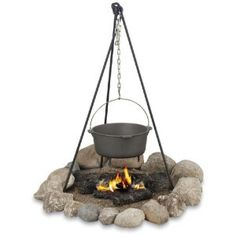 Texsport Campfire Tripod - just the tripod. The cookware is made in China. I do not trust any cast iron made in China.
