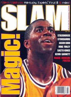 SLAM Los Angeles Laker Magic Johnson appeared on the cover of the issue of SLAM Magazine cover 1 of Basketball Pictures, Love And Basketball, Basketball Legends, Nba Basketball, Slam Magazine, Magazine Covers, Showtime Lakers, Kevin Garnett, Nba Los Angeles