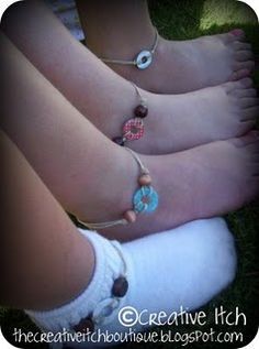 Washer anklets - So fun making these with friends on Friday night! :)