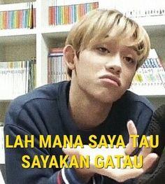 Memes indonesia nct 45 ideas for 2019 Memes Funny Faces, Funny Kpop Memes, Cute Memes, Memes Humor, Funny Humor, K Meme, Nct, Drama Memes, Cartoon Jokes