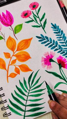 Art Painting Tools, Watercolor Painting Techniques, Watercolor Paintings Abstract, Gouache Painting, Watercolor Flowers, Easy Flower Painting, Flower Art, Mandala Art Therapy, Tropical