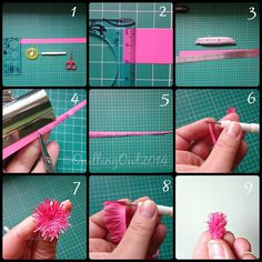 Fringed flowers tutorial by Quilling Owl :-)