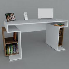Decorating Bathroom Shelves, Decorating Bookshelves, Shelves In Bedroom, Folding Furniture, Office Furniture, Diy Furniture, Furniture Design, Computer Desk Design, Office Table Design