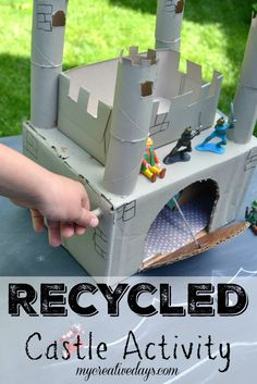 Recycled Castle Activity For Kids #sp