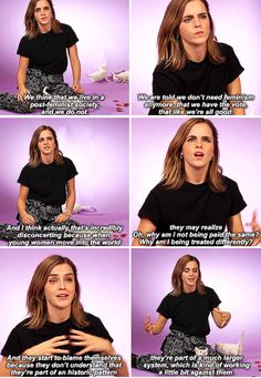 Emma Watson - What would you say is the biggest problem facing young women today?