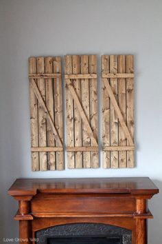 Rustic DIY Barn Wood Shutters Shelterness   Shelterness