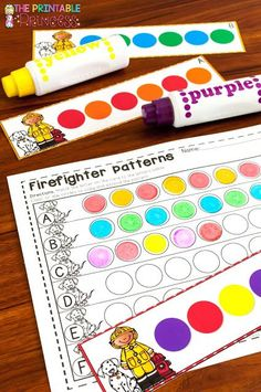 Looking for fire safety activities and centers for Kindergarten? Click through to see great books ideas, a cute little fireman craft, some great free downloads, & more! Even your preschool or first grade students will enjoy these, as will homeschool families! Let your primary students enjoy the freebies, picture sort, printables, sound practice, letters, numbers, counting, patterns, & more! Click through for all the details! Great for Fire Safety Week in October! #firesafety #math #kindergarten