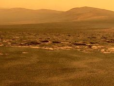 A true color view of Mars  Photo by Mars Exploration Rover Opportunity