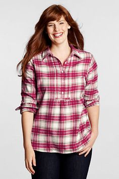 Women's Pintuck Flannel Tunic (Lands' End)