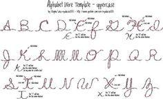 Majuscules lettres en fer