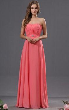 Best Watermelon Bridesmaid Dress BNNAH0046-Bridesmaid UK