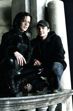 Len Wiseman and Kate Beckinsale behind the scenes of Underworld