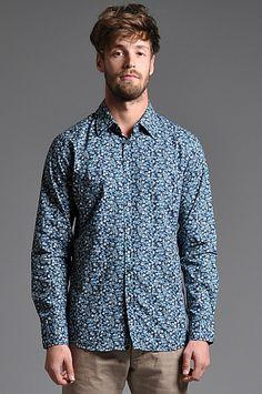 Dr Denim Roland Shirt Blue Flower