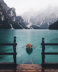 Designspiration — Design Inspiration, calm, spirit, blue mountains, central, snow, lake, cold, photography, wood