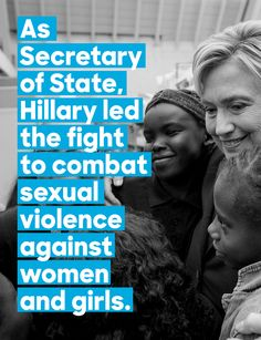 The world is a better place because Hillary Clinton was secretary of state. Hillary For President, Madam President, Human Rights Quotes, People Talk, My People, Social View, Hillary Rodham Clinton, Secretary, New Woman
