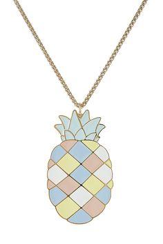Halskette mit Ananas-Anhnger detail 0