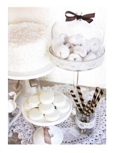 white party great for a baptism white dessert tableswhite