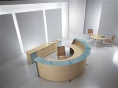Luxury Semi Circle Receptionist Desk