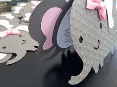 Elefante bebé ducha invitación elegante arcos por FiggiDoodles