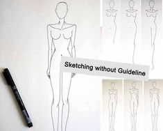 Take our FREE Online fashion design courses and learn Fashion drawing, Fashion illustration, Coloring body and Face, Drawing clothes and garments. Fashion Designing Course, Fashion Design Classes, Fashion Courses, Fashion Blogs, Fashion Illustration Tutorial, Fashion Figure Drawing, Catwalk Models, Pencil Design, Fashion Sketches