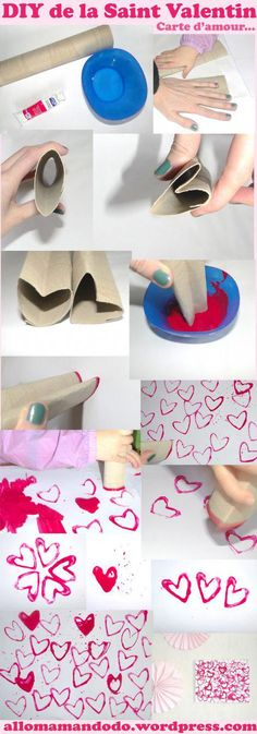 saint valentin amour coeur diy tuto enfant choose color scheme print, add splats and drops, glitter Valentine Crafts For Kids, Valentines Day, Valentine Makeup, The Saint, Diy And Crafts, Arts And Crafts, Heart Diy, Saint Valentine, Diy For Kids