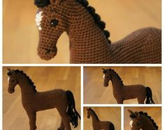 PDF Crochet Horse Pattern Crochet Animal by ntuckercreations