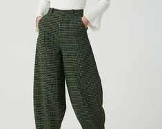 Linen slacks Linen Pants linen baggy pants linen pants | Etsy Maxi Pants, Baggy Pants, Casual Pants, Linen Pants Women, Slacks For Women, Slacks Outfit, Linen Blouse, I Dress, Etsy