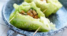 Paupiettes de chou vert frisé au poulet et raisins secsVoir la recette des Paupiettes de chou vert frisé au poulet et raisins secs >>