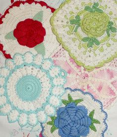 vintage potholder collection