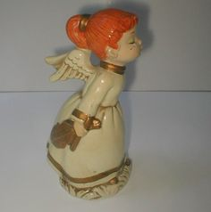 Kissing Angel with Violin   Vintage 60's Papier by studiostebbylee