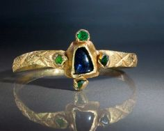 A Gothic Gold, Sapphire & Emerald Ring, ca 13th-14th century A.D. | Sands of Time Ancient Art