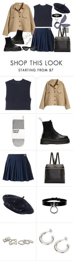 """""""Untitled #2035"""" by devipenny ❤ liked on Polyvore featuring ADAM, H&M, Dr. Martens, Fila, Kara, donni charm, Accessorize, Kendra Scott and Le Specs"""