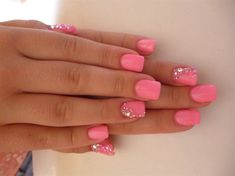barbie nails... Haha kind of love this!