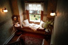 Reading Nook in the Palmer House Inn, Falmouth, Massachusetts <3
