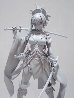 """タカマツさんのツイート: """"FGOより、1/7『セイバー/宮本武蔵』原型公開です! さらにクオリティを上げていく予定ですので、お楽しみに!… """" Zbrush Character, Female Character Concept, 3d Model Character, Character Poses, Character Modeling, Character Costumes, Character Art, 3d Figures, Anime Figures"""