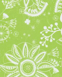 Flower Power Lime - Indoor/Outdoor | Online Discount Drapery Fabrics and Upholstery Fabric Superstore!