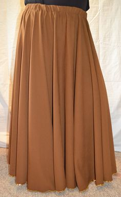 Belly Dance Circle Skirt in a lovely brown by dustyrosestudio