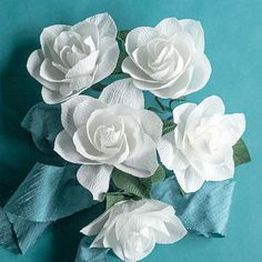 These gorgeous blooms are so easy to make with Italian crepe paper. Tutorial and template included.