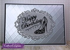A5 Top Fold Card made using Sara Signature Glamour Collection. Designed by Janine Quinn #crafterscompanion