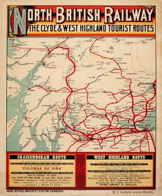 Original Vintage Posters -> Travel Posters -> North British Railway the Clyde and West Highlands Map Globe, Railway Posters, British Rail, Beautiful Posters, Nostalgia, Antiques For Sale, Sale Poster, Advertising Poster, Best Places To Travel