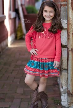 Blu by Blu Clothing - Wild West Printed Skirt Fall 2015