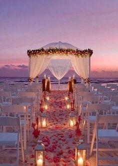 How to plan a #Wedding #Ceremony NIGHT BEACH WEDDING.