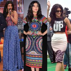 Shruti Hassan outfits for Gabbar movie promotions