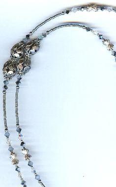 Beaded Eyeglass Chains, Beaded Eyeglass Holders/Leashes and Beaded ID Badge Lanyards by Bead Wizardry Designs Swarovski, Beaded Lanyards, Long Necklaces, Eyeglass Holder, Zipper Pulls, Key Chains, Eye Glasses, Jewelery, Beading