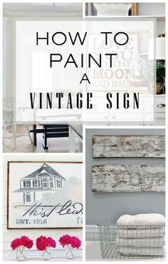 Making a vintage sign of your own is so easy and affordable.  Make a company sign or a distressed wood sign and many more.  Click here for sign idea and inspiration.
