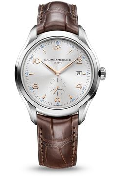 Entdecken Sie die Herrenuhr mit Lederarmband und Automatikwerk Clifton 10054, aus dem Hause Baume et Mercier, Hersteller von Schweizer Uhren.