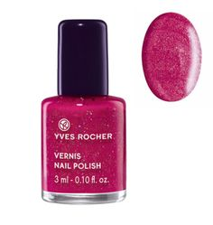 Yves Rocher Nail Polish - Sparkling Pink - http://47beauty.com/nails/index.php/2016/10/03/yves-rocher-nail-polish-sparkling-pink/ Yves Rocher Nail Polish – Sparkling Pink  Say yes to the Winter 2014 trend with this new Nail Polish that offers immediate shimmering effect! Practical, its formula dries quickly and is easy to apply. Result: one coat is all it takes to create a fabulous effect. The Plus: a practical small format to bring everywhere. 0.10 fl.oz. / 3 ml Bottle