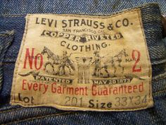 Levi Strauss Overalls Lot 201, c1902-1922