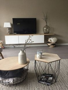 classy living room design and decor ideas 37 ~ INSPIRA Living Room Tv, Interior Design Living Room, Home And Living, Living Room Designs, Coastal Living, Muebles Living, Mid Century Modern Living Room, Home Decor, Decor Ideas