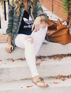 camo outfit, adidas outfit, fall fashion, summer fashion, camo jacket